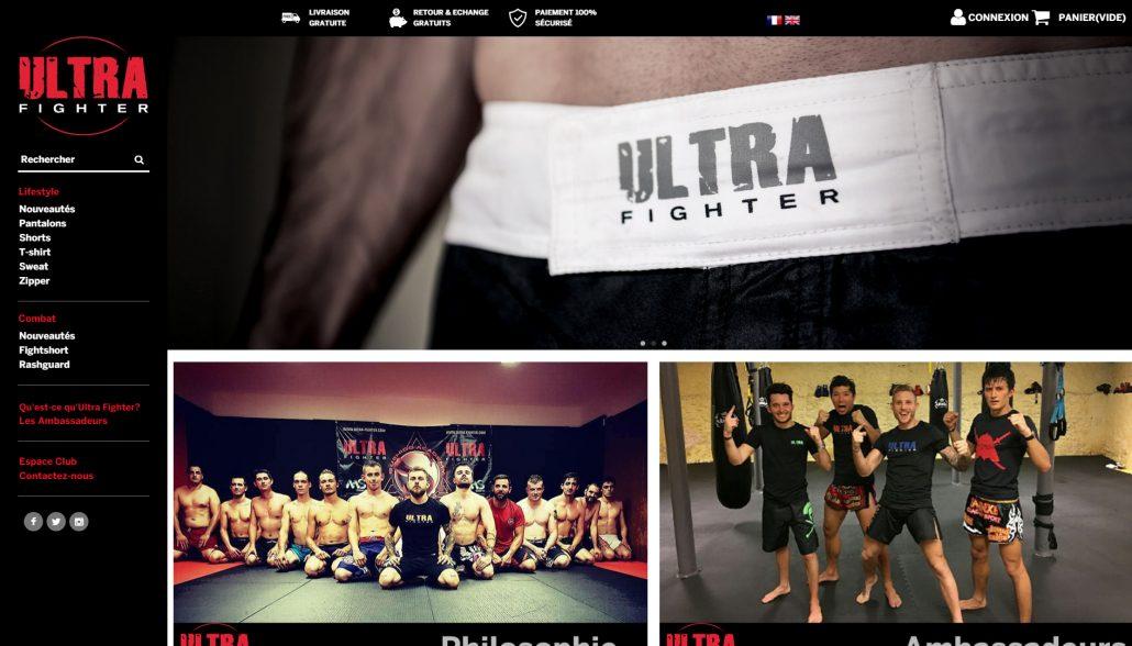 création et exemple site internet ultra fighter