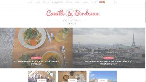 Image du site internet de Camille in Bordeaux