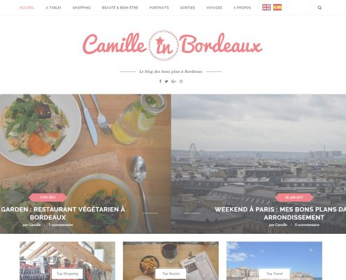 Image du site internet de Camille in Bordeaux