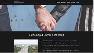 Photo du site internet de la psychologue