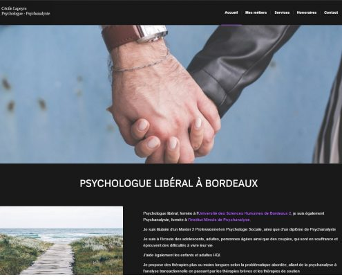 Photo du site internet de la psychologue