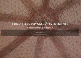 Screenshot du site internet de la page d'accueil Etinc'elles