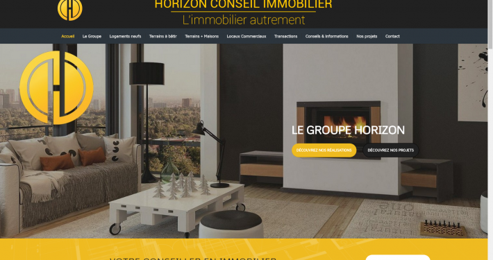 Photo du site internet d'horizon conseil immobilier