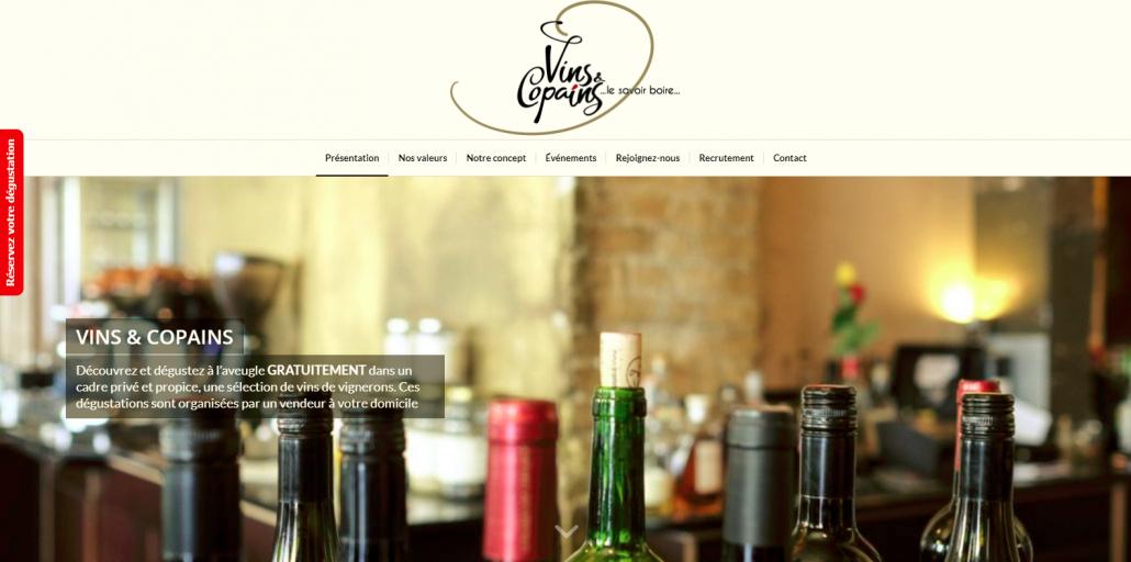 Capture d'écran du site internet réalisé par Wecode