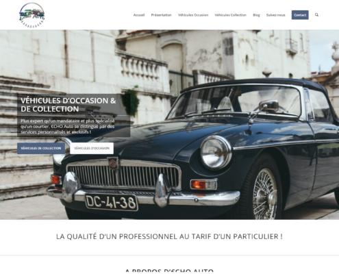 Accueil du site internet de Echo Auto